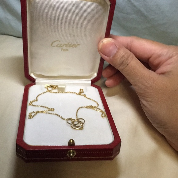 Jewelry - 18K Cartier tri color trinity pendant
